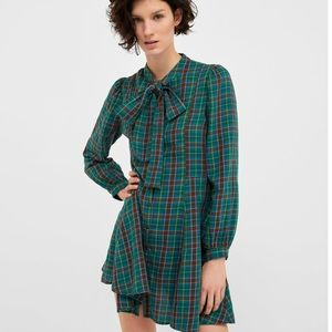 Zara plaid dress NWT